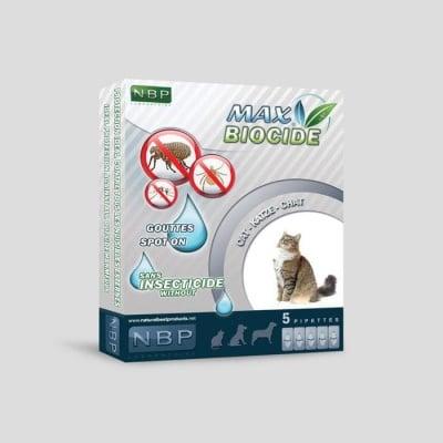 Противопаразитни капки за котки 5х 1мл. - Max Biocide NBP