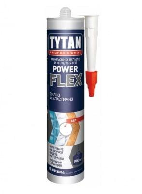 Прозрачно монтажно лепило / уплътнител  Power Flex Tytan Professional