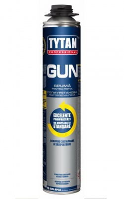 Полиуретанова пистолетна пяна GUN Tytan Professional