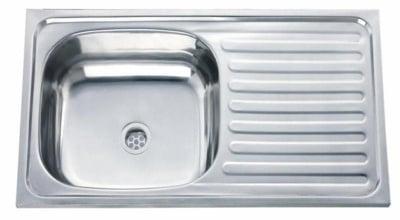 Кухненска мивка алпака - десен плот