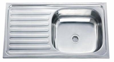 Кухненска мивка алпака - ляв плот