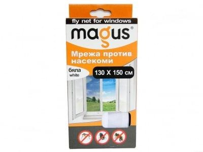Мрежа срещу насекоми 130х150 см. бяла - MAGUS