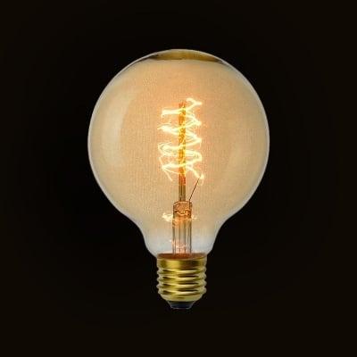 Декоративна карбонова лампа G95 Decorart