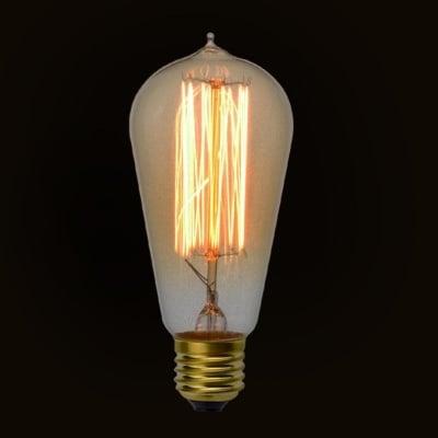 Декоративна карбонова лампа ST64 Decorart