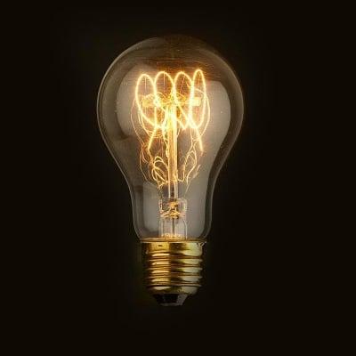 Декоративна карбонова лампа A60 Decorart