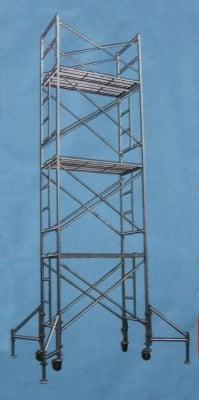 Строително скеле - Стоманено 8м. работна височина макс.