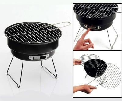 Мини барбекю на дървени въглища