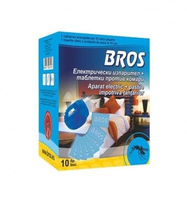 Електрически изпарител против комари + 10 бр. таблетки Bros