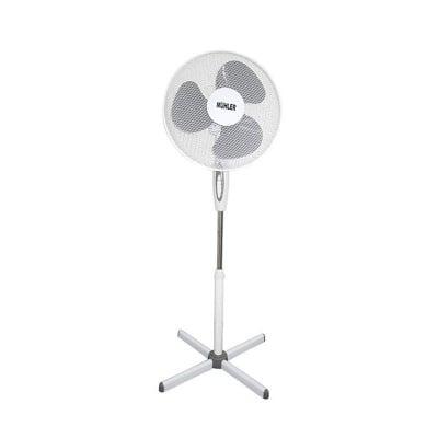 Вентилатор със стойка Muhler бяло + сиво