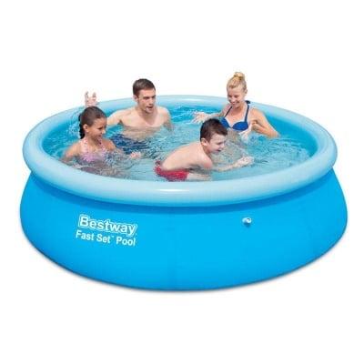 Надуваем басейн 3.05 м. х 76 см. Bestway