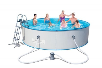 Сглобяем басейн с филтрираща помпа 3.60 м. х 90 см. Bestway