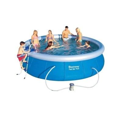 Надуваем басейн с филтрираща помпа 4.57 м. х 1.07 м. Bestway