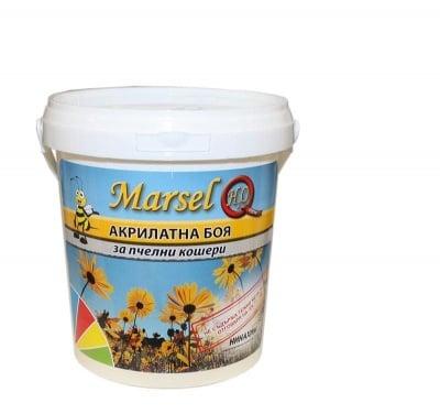 Акрилатна боя за пчелни кошери Marsel - бял