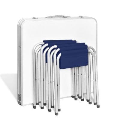 Сгъваема къмпинг маса 120 х 60 см. + 4 стола