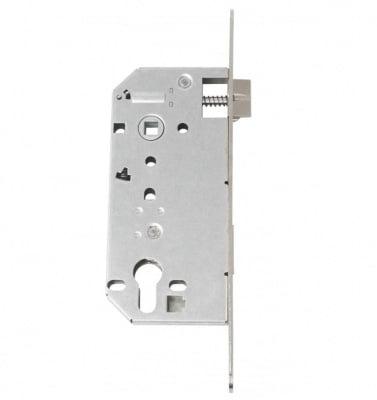 Вкопана брава за врати - секретна никел  90 мм. Deka