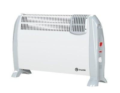 Подов конвектор с вентилатор 2kW - бял