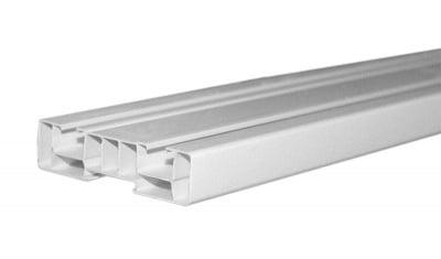 Двуканална PVC релса за перде 2 м.
