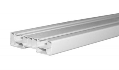 Двуканална PVC релса за перде 2.5 м.
