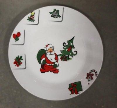"""Коледна чиния """"Дядо Коледа"""" 19см."""