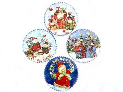 Коледни подложки за чаши