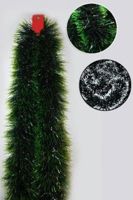Гирлянд със заснежен ефект 14 см. зелен / зелено и бяло