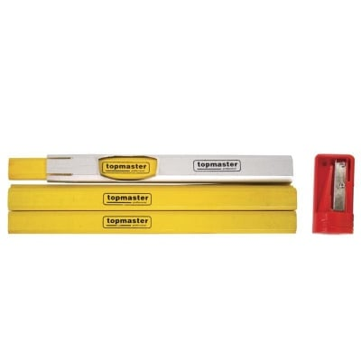 Комплект дърводелски моливи 7 бр. Topmaster