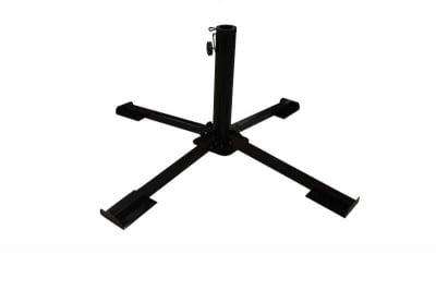 Метална стойка за чадър - черна