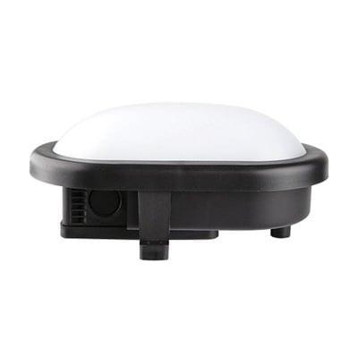 LED плафониера 10W овал - черна Ultralux