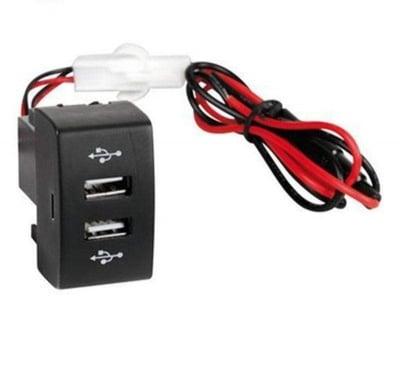 Двоен USB порт за вграждане 24 V