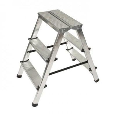 Двустранна алуминиева стълба 2х3 - Drabest