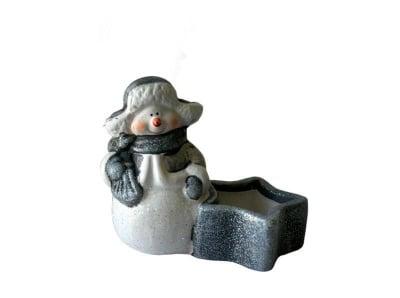 Коледен свещник Снежко