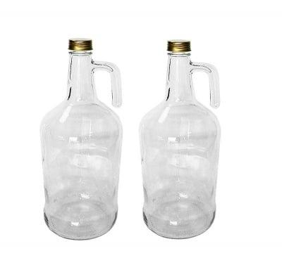 Стъклена бутилка с дръжка 3 литра