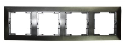 Четворна рамка хоризонтална цвят сив - Candela