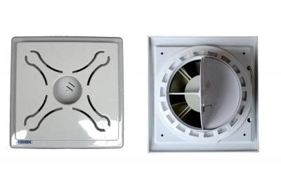 Квадратен вентилатор с клапа ОК 01 X