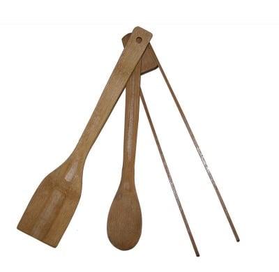 Комплект прибори от бамбук