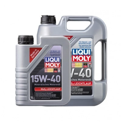 Минерално моторно масло Liqui Moly MoS2 LEICHTLAUF 15W-40 5 литра