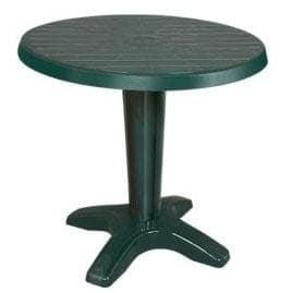 Кръгла маса 80 см. зелена
