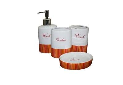 Керамичен комплект за баня 4 части / различни цветове/