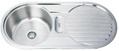 Кухненска мивка алпака 10048А десен плот - Inter Ceramic