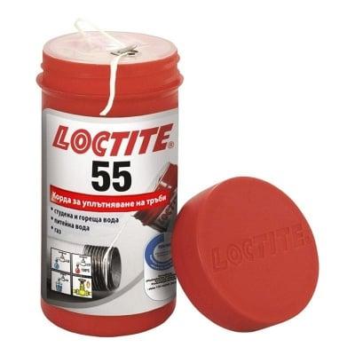 Корда за уплътняване на резби 150 м. Loctite 55