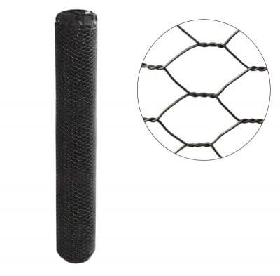 Мрежа рабица черна 7 мм. h100