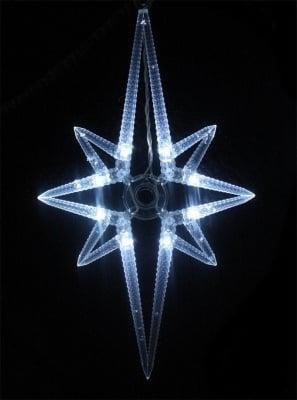 Коледни лампички падащи звезди 8 бр. бели