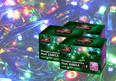 Коледни лампички тип гирлянд 100 бр. разноцветни - Enigma lights