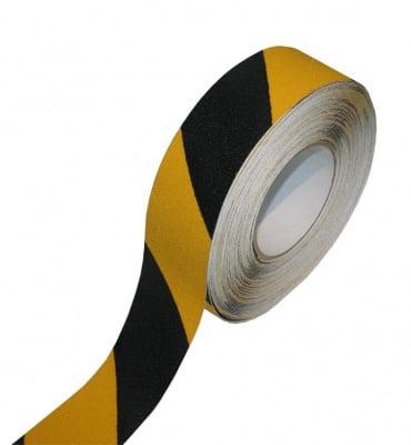 Противоплъзгаща самозалепваща лента жълто- черна 5 м. MAGUS