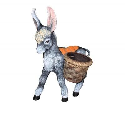Градинска фигура магаре с кашпа
