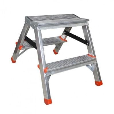 Двустранна алуминиева стълба 2х2 - Drabest