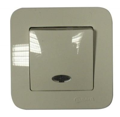 Ключ девиаторен със светлинен индикатор бежов - Lilium