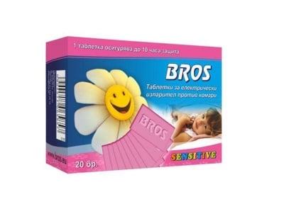 Таблетки за електрически изпарител против комари 20 бр. Sensitive Bros