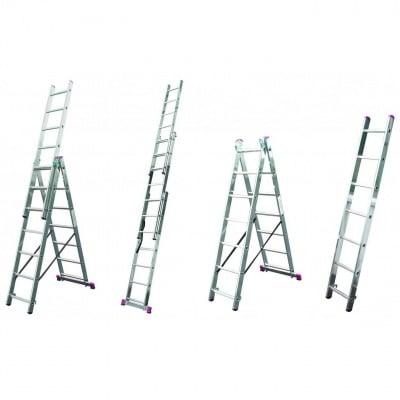 Професионална алуминиева стълба 3x9 Corda Krause