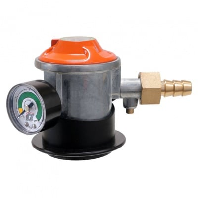 Редуцир вентил  за ниско налягане с клапан и манометър PREMIUM GAS